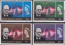Antarctica 1966- B.A.T Winston Churchill Michel 16-19 MNH 27893 - Nuevos