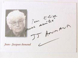 J.Jaques ANNAUD - Signé / Dédicace Authentique / Autographe - Cinema