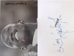 Linford CHRISTIE - Signé / Dédicace Authentique / Autographe - Atletismo