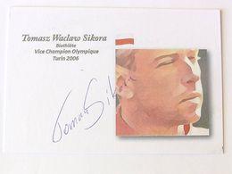 Tomasz SIKORA - Signé / Dédicace Authentique / Autographe - Atletismo