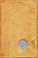 Div102 Carte Relief Représentation De Billets 5 Francs Et Monnaie 1904 à Pharmacie PUECH 9 Rue Du Collège Castres - Monnaies (représentations)