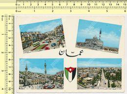 Souvenir Of AMMAN, Mosque, Square,  Jordan  Vintage Photo Postcard Rppc Pc - Jordanie