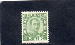ISLANDE 1920 * - Ongebruikt