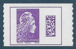 Adhésif 1656 A - Marianne L'Engagée International Timbre De Carnet (2019) Neuf** - France