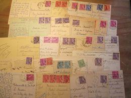 Lot De 27 CARTES POSTALES Affranchissement MERCURE Pour étude Timbres Et Cachets - 1877-1920: Période Semi Moderne