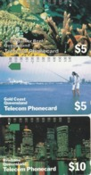 Australia, T3C1, T3C2 And T3C3, Set Of 3 Cards, Trial Cards - National States Series, Queensland, 2 Scans. - Australie
