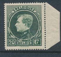 """BELGIUM """"MECHELEN"""" COB 290A MNH PETIT PLI ACCORDEON SUR LE COTE DROIT ET BORD DE FEUILLE - 1929-1941 Grand Montenez"""