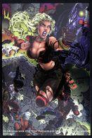 Fantaisie Erotique Chromium Card COMICS Erotic Fantasy  RAZOR Science Fiction Femme Armée Guerrière Blonde Fury Woman - Trading Cards