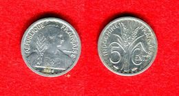 COLONIE - COLONIALES - INDOCHINE - INDO CHINA - 5 CENTS 1946 - PAS COURANT - TRACES DE CIRCULATION - POIDS 0,68GR - Colonies