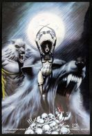 Fantaisie Erotique Chromium Card COMICS Erotic Fantasy  RAZOR Science Fiction Femme Loup Garou Woman Werewolf - Trading Cards