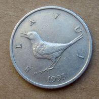 1993 CROAZIA 1 Kuna - Uccelli  - Circolata - Croatia