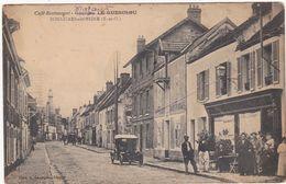 Yvelines : BONNIERES-sur-SEINE - Café-Restaurant Georges LE GUESCLOU : ( Animée - Devanture De Café ) - Bonnieres Sur Seine