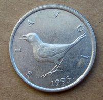 1995 CROAZIA 1 Kuna - Uccelli  - Circolata - Croatia