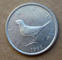 1995 CROAZIA 1 Kuna - Uccelli  - Circolata - Croatie
