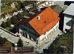 BERGÜN Flugaufnahme Hotel Albula Auto Tanksäule BP - GR Grisons