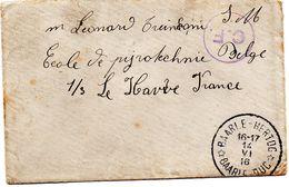 Petite Enveloppe En Franchise De BAARLE-HERTOG / BAARLE-DUC Vers Le Havre - Censure C.F. De Folkestone (défauts Au Dos) - WW I