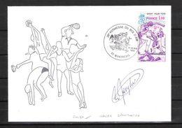 ENVELOPPE 29ème KERMESSE DU BOL D AIR 1979  / DÉDICACE De Walter SPANGHERO Rugby Français - Handtekening