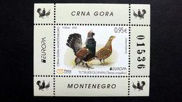 Montenegro 431 Block 24  **/mnh, EUROPA(CEPT 2019, Auerhuhn (Tetrao Urogallus) - Montenegro