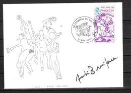 ENVELOPPE 29ème KERMESSE DU BOL D AIR 1979  / DÉDICACE D' André BONIFACE  Rugby Français - Handtekening