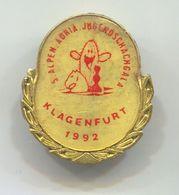 CHESS  ECHECS  SCHACH - 5. Alpen Adria Jugendschachgala Klagenfurt, Vintage Pin, Badge, Abzeichen - Jeux
