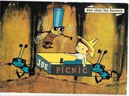 Les Aventures De JOE De JEAN IMAGE. ORTF JOE Chez Les Fourmis, Une Partie De Picnic. Ed. Yvon N°4, Cpm - Séries TV