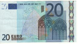 GERMANY   € 20   2nd Signature (Trichet)   X   -   R007F4 - EURO