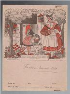 PROTEGE CAHIER PAPETERIES DU SENTIER A PARIS VERS 1950 LE PETIT CHAPERON ROUGE DESSIN DE M. HUET - Protège-cahiers