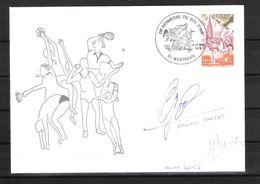 ENVELOPPE 29ème KERMESSE DU BOL D AIR 1979  /  DÉDICACES De Bernard FARJAT Et D'Henry BOERIO - Gymnastiek