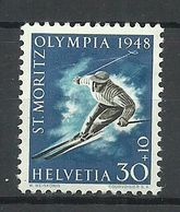 SCHWEIZ Switzerland 1948 Michel 495 * St. Moritz Olympic Games - Invierno 1948: St-Moritz