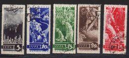 Russie URSS 1935 Yvert 536 / 540 Obliteres. Timbres De La Propagande Contre La Guerre. - 1923-1991 USSR