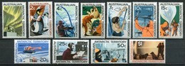 Australian Antarctic Territory Mi# 8-18 Postfrisch MNH - Helicopter, Dogs, Penguins, Seals + More - Nuevos