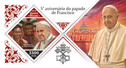 GUINEA BISSAU 2018 - Pope Francis, Amazonian Indians S/S. Official Issue - American Indians