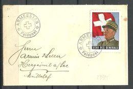 SCHWEIZ Switzerland Ca 1940 Feldpost Stab Des Generals Cover - Military Post