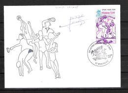 ENVELOPPE 29ème KERMESSE DU BOL D AIR 1979  /  DÉDICACE De Lionel LACAZE Lutte Gréco Romaine - Handtekening