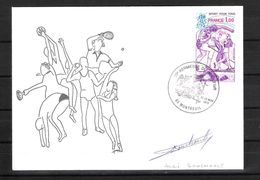ENVELOPPE 29ème KERMESSE DU BOL D AIR 1979  /  DÉDICACE D' André BOUCHOULE - Handtekening
