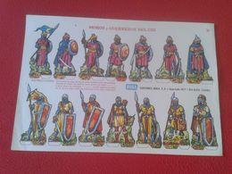 ANTIGUA HOJA RECORTABLE SPAIN ESPAÑA RECORTABLES BOGA MOROS Y GUERREROS MOORS AND WARRIORS OF THE DEL CID GUERRIERS..... - Vieux Papiers
