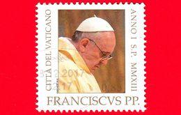 VATICANO - Usato - 2013 - Ritratto Di Papa Francesco - 0,85 - Vatican