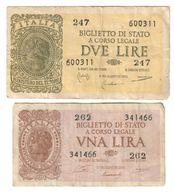 Italy Lot Set 1 - 2 Lire 1944 - [ 1] …-1946 : Royaume