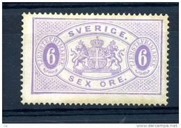 Suède  -  Services  :  Yv  6B  (*)    Dentelé 14 - Service