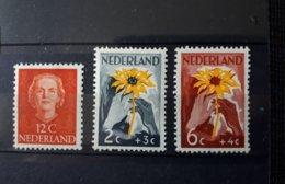Timbre Pays-Bas : 1 Guilden 1949 N° 521 à 522 NEUF ** & - Period 1949-1980 (Juliana)