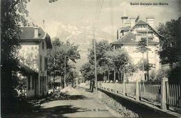 St Gervais Les Bains * Travaux * Une Rue * Panneau Le Grand Hôtel - Saint-Gervais-les-Bains