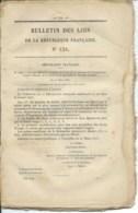 BULLETIN DES LOIS DE LA REPUBLIQUE FRANCAISE N°125 / 1873 / 55 PAGES - Décrets & Lois