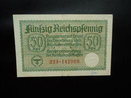 ALLEMAGNE * : OCCUPATION ALLEMANDE DE TERRITOIRES : 50 REICHSPFENNIG ND 1940-45   CA VII.I 550a  / P R135    TTB+ - [10] Emisiones Militares