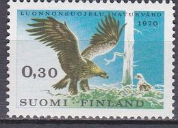 Tr_ Suomi Finnland 1970 - Mi.Nr. 667 - Postfrisch MNH - Tiere Animals Vögel Birds Adler - Adler & Greifvögel