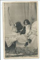Children Postcard Little Girl With Dog. Knight Of The Bath Posted Birmingham Squared Circle 56 In Corners - Humorous Cards
