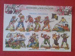 ANTIGUA HOJA RECORTABLE SPAIN ESPAÑA RECORTABLES BOGA HEROES Y SOLDADOS PIRATAS Y BUCANEROS PIRATES BUCCANEERS PIRATE... - Vieux Papiers