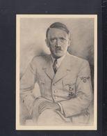 Dt. Reich PK Hitler Kreidezeichnung Denzel 1943 Gelaufen - Personaggi Storici
