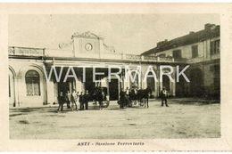 ASTI STAZIONE FERROVIARIA OLD B/W POSTCARD ITALY - Asti