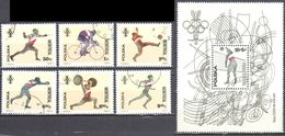 Poland 1976 - Olympic Games Montreal Mi.2452-57+ms 65 - Used - 1944-.... Republic