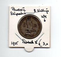 RHODESIE & NYASSALAND 2 SHILLINGS 1955 ELISABETH II - Rhodesia